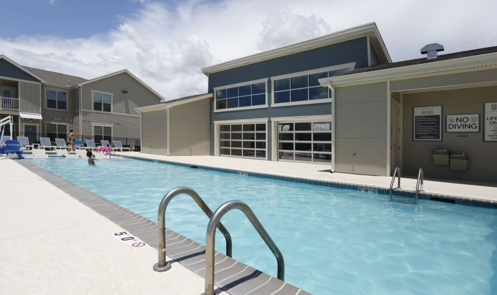 resort style pool at Springs at Country Club Apartments in Lake Charles, LA