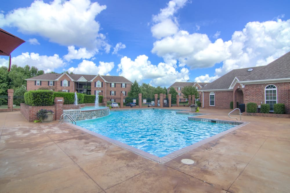 Swimming pool at Annandale Gardens in Olive Branch, Mississippi