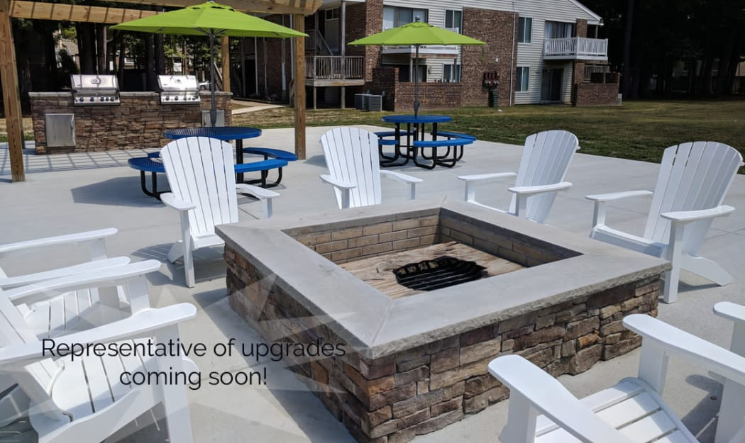 Fire pit outdoors The Residences at Forest Grove in Newport News, Virginia