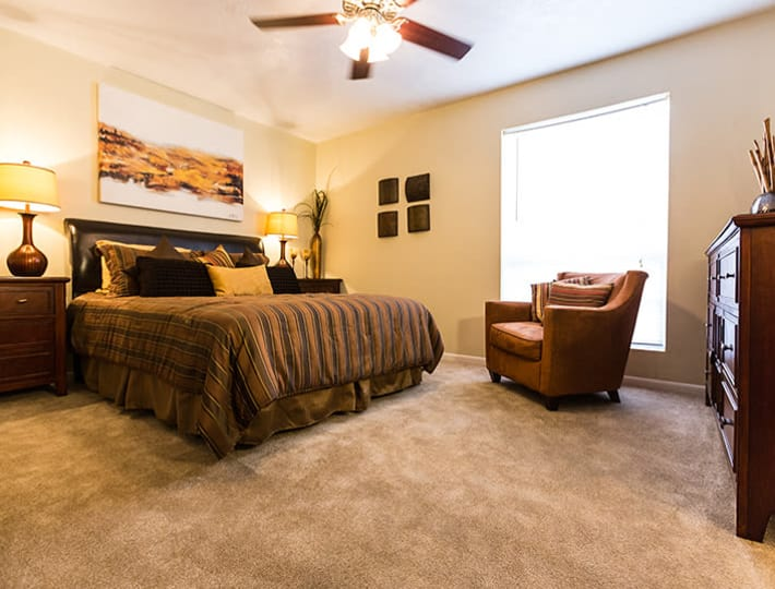 Bedroom layout at Riverstone Apartments in Bryan, Texas