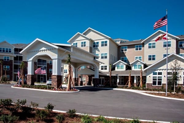 Building exterior of Cypress Springs Gracious Retirement Living in Bradenton, Florida