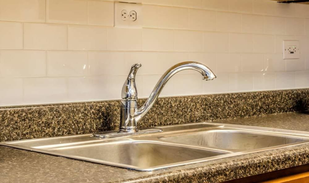 Granite countertops at 7100 South Shore Apartment Homes in Chicago, Illinois