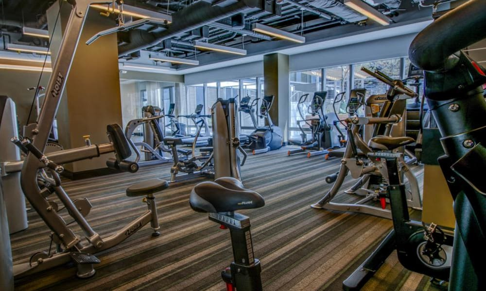 Beautiful fitness center at The Benjamin in Boston, MA