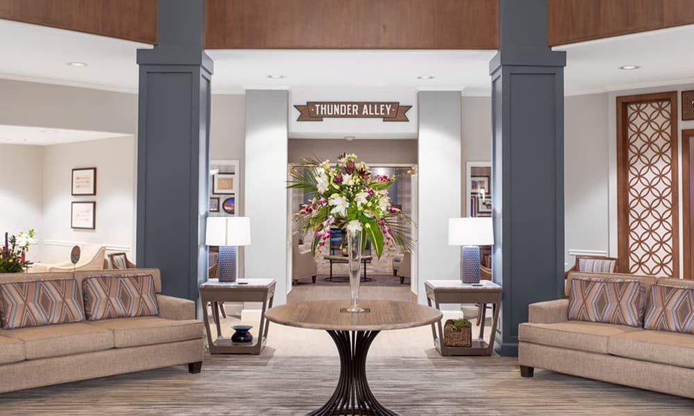 The lounge at Touchmark at Coffee Creek in Edmond, Oklahoma