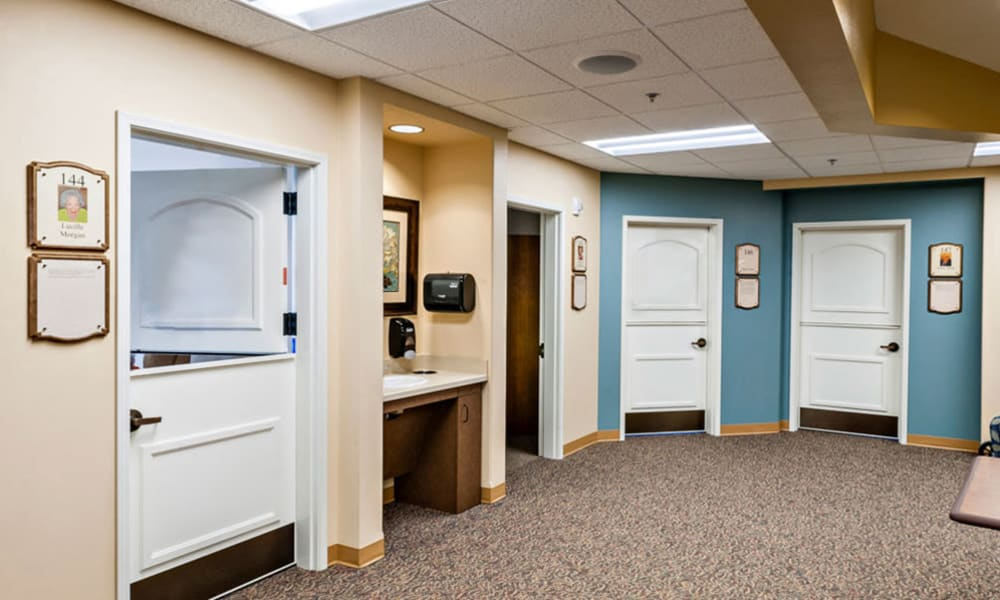 Memory Care common room at Touchmark at Fairway Village in Vancouver, Washington