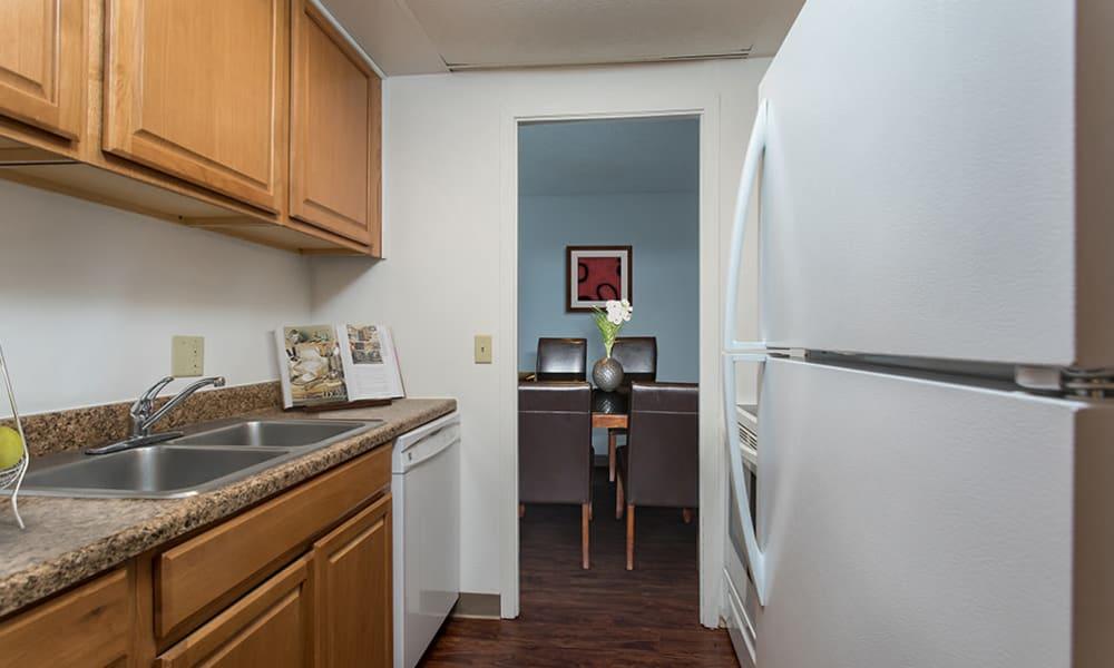 Bright kitchen at Park Guilderland Apartments in Guilderland Center, New York