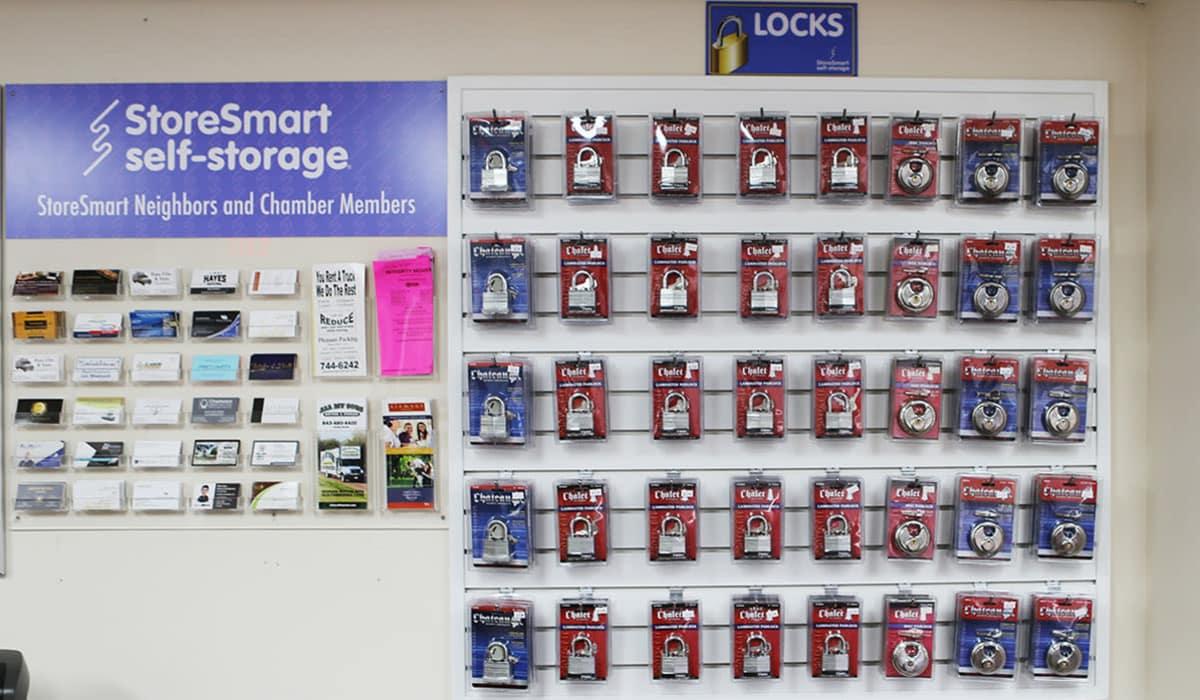 Storage supplies for sale at StoreSmart Self-Storage in Charleston, South Carolina