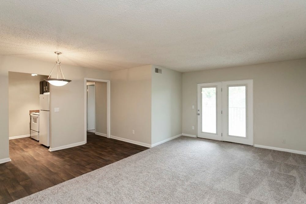 Large open room in model at Candlewood Apartments in Nashville, Tennessee