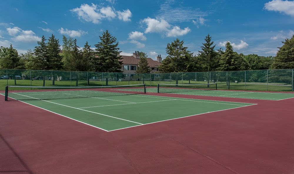 Tennis courts at Steeplechase Apartments in Camillus, New York