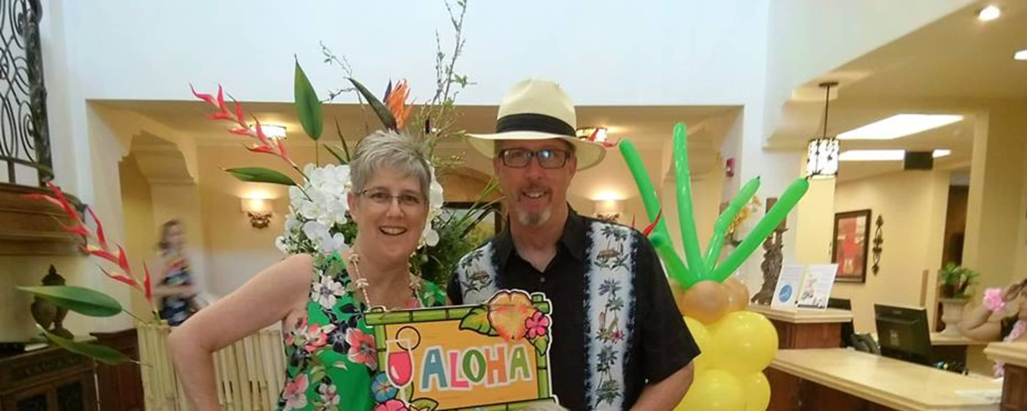 Hawaiian themed senior party at Estancia Del Sol in Corona, California