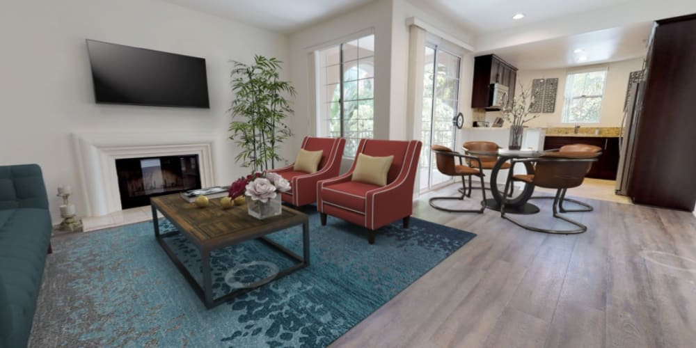 Take a virtual tour of our two bedroom homes at L'Estancia in Studio City, California