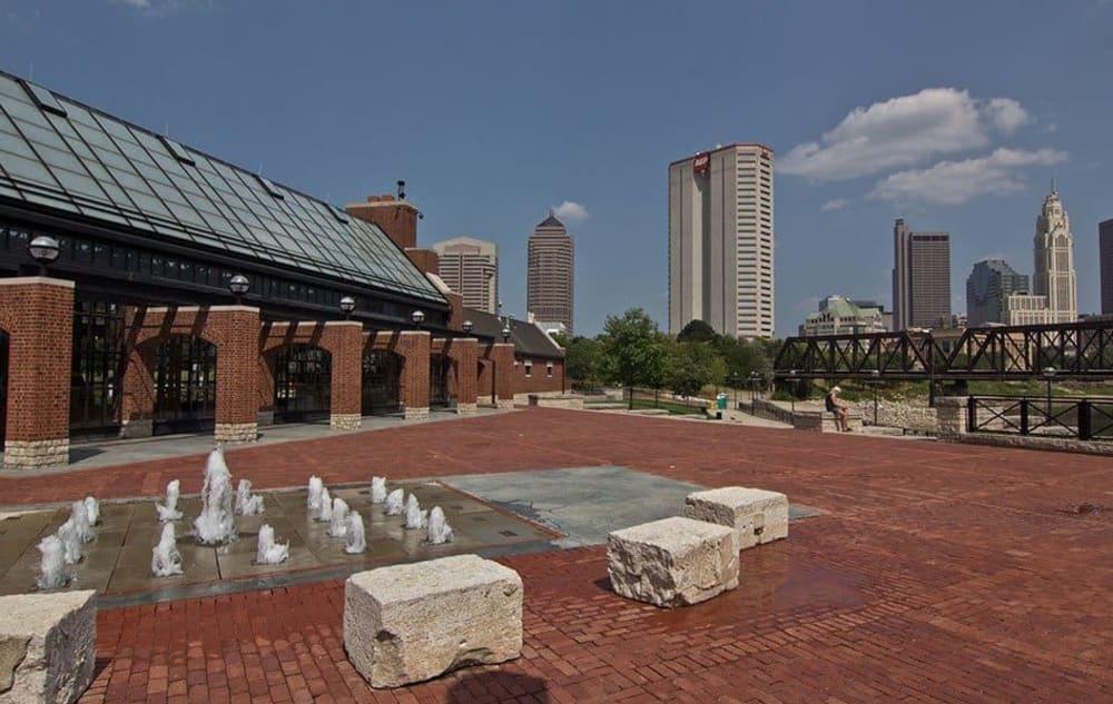 Splash pad near Easton Commons in Columbus, Ohio
