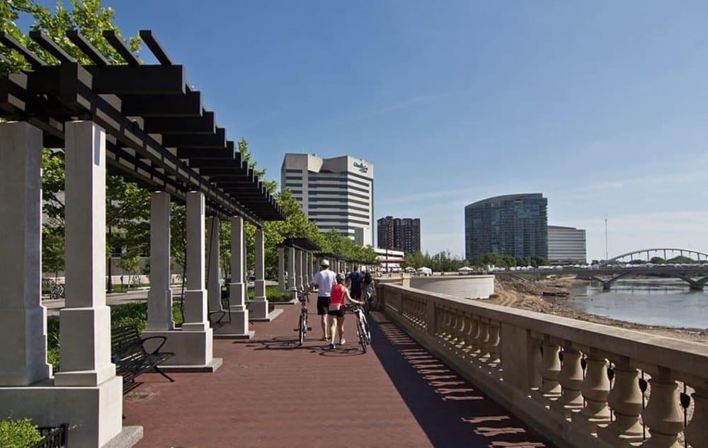 Boardwalk near Easton Commons in Columbus, Ohio
