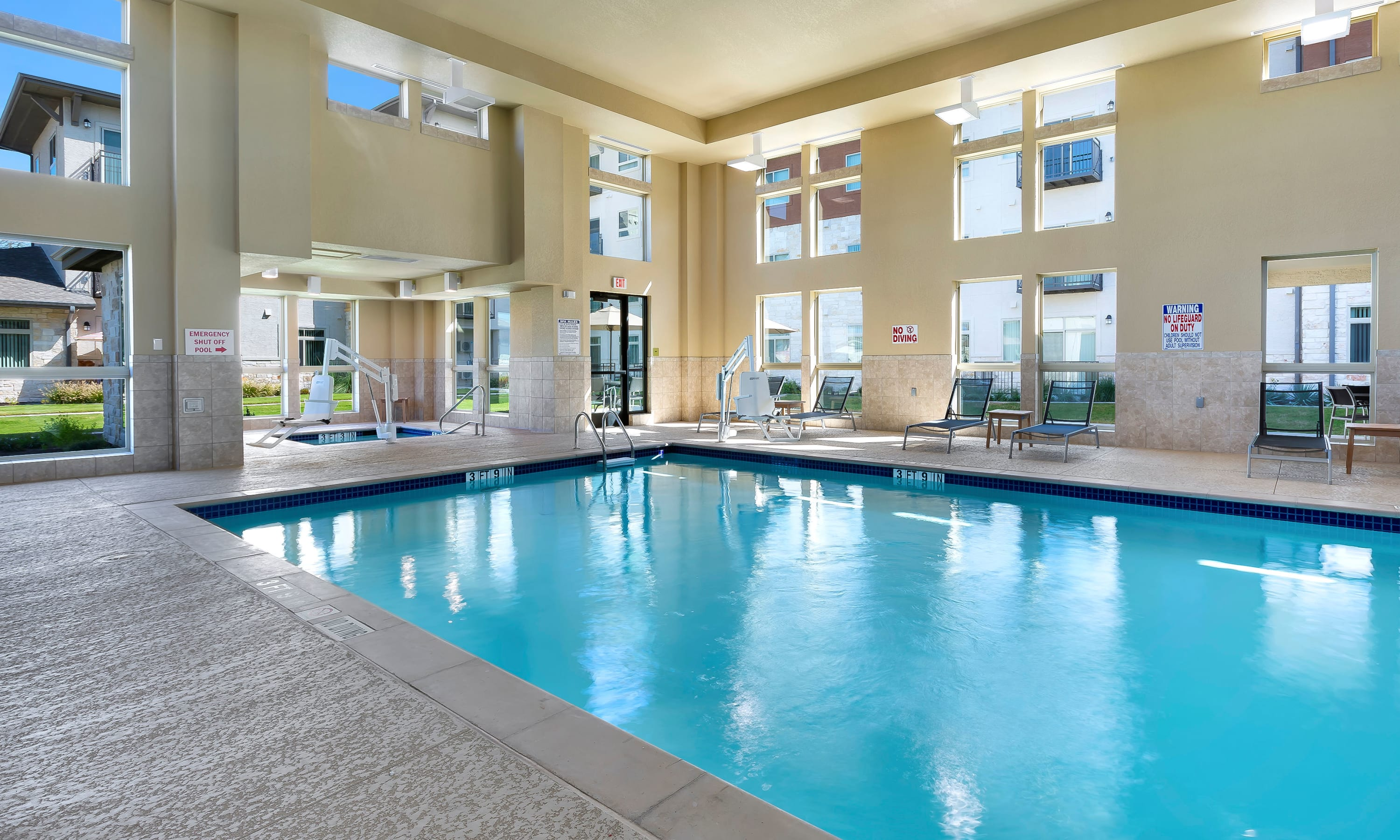 Indoor pool at Affinity at Southpark Meadows