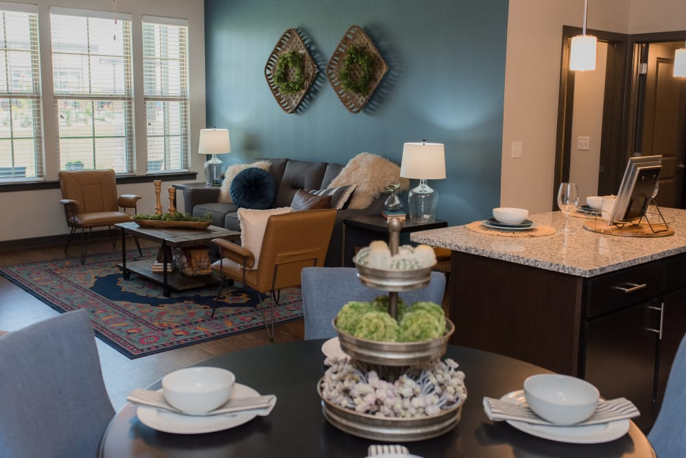 Living room at Springs at Sunfield