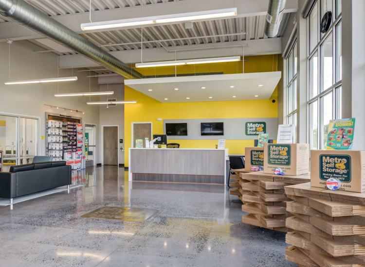 Indoor storage units at Metro Self Storage in Line Lexington, Pennsylvania