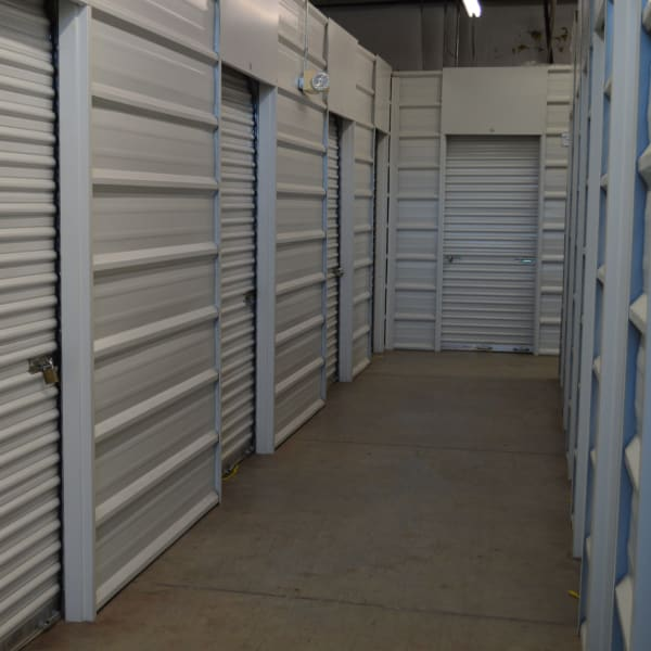 Climate-controlled interior units at at StorQuest Self Storage in Gainesville, Florida