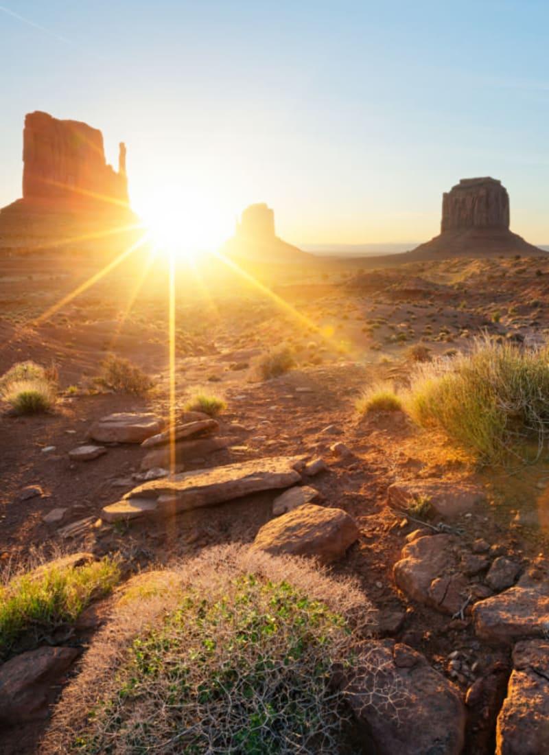Arizona desert sunrise near Marquis at Sonoran Preserve in Phoenix, Arizona