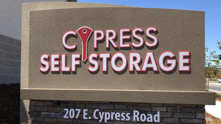 Cypress Self Storage sign