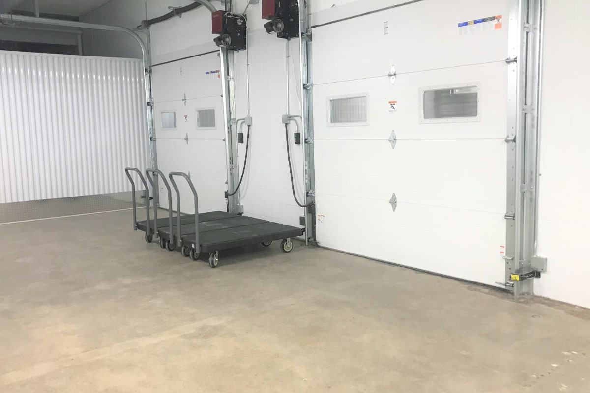 The loading docks at Storage 365 in Golden Valley, Minnesota