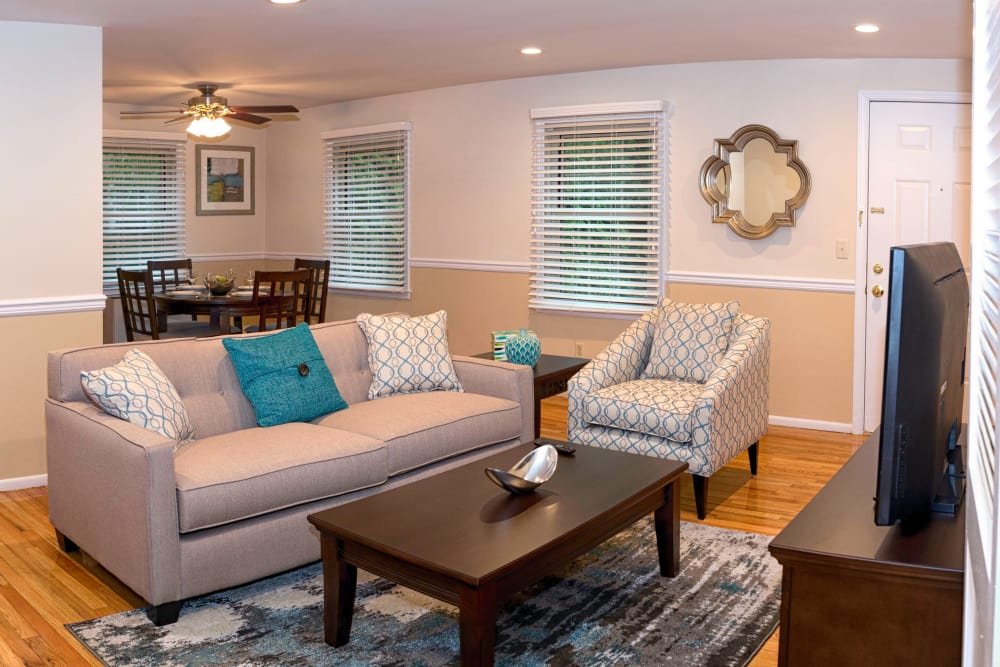 Beautiful living room at Westfield Hamilton House