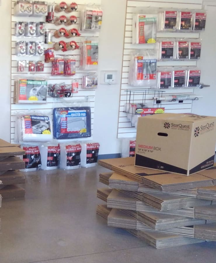 Packing supplies sold at StorQuest Self Storage in Chandler, Arizona