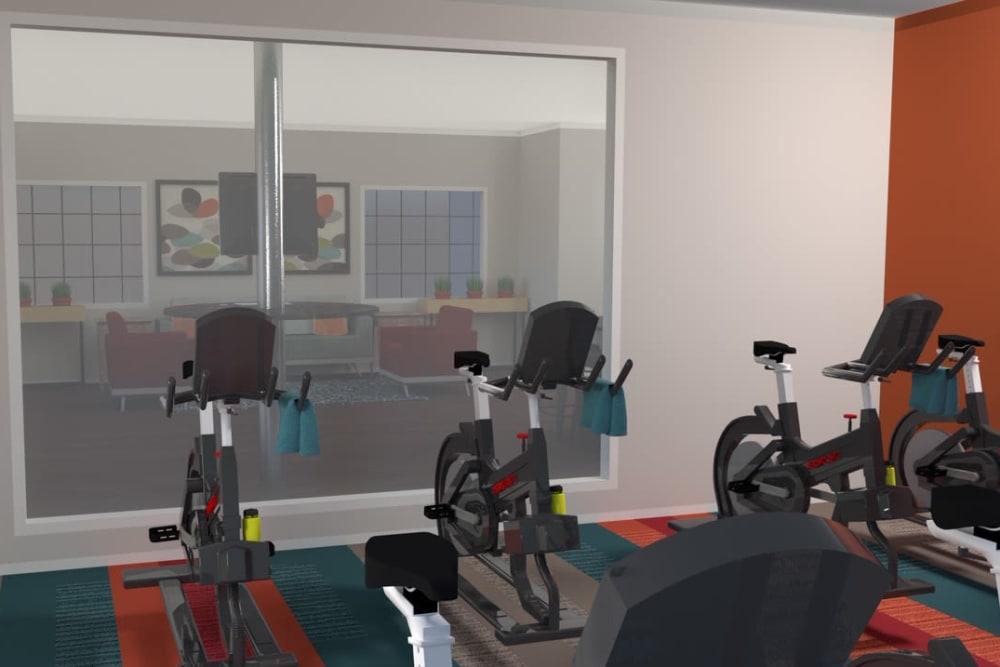 Fitness center at Verde Apartments in Tucson, Arizona