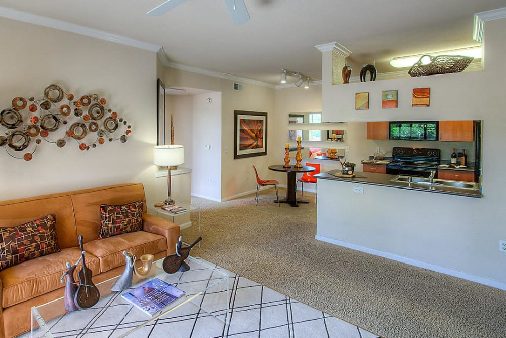 Spacious living area at Borrego at Spectrum in Gilbert, Arizona