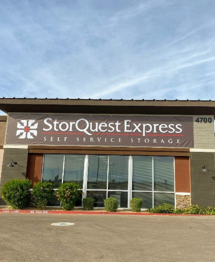 Branding and signage at StorQuest Express - Self Service Storage in Gilbert, Arizona