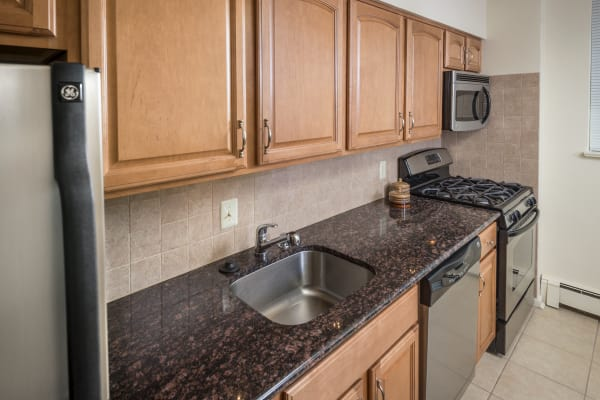Kitchen model at Haddonview Apartments