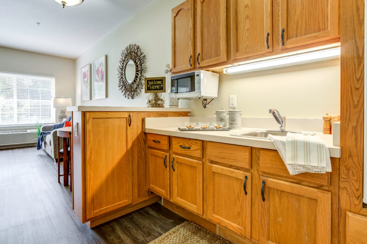 Spacious kitchen at Westmont of Fresno in California