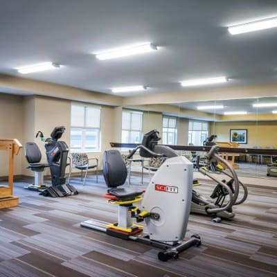 Fitness center at The Sanctuary at West St. Paul in West St. Paul, Minnesota