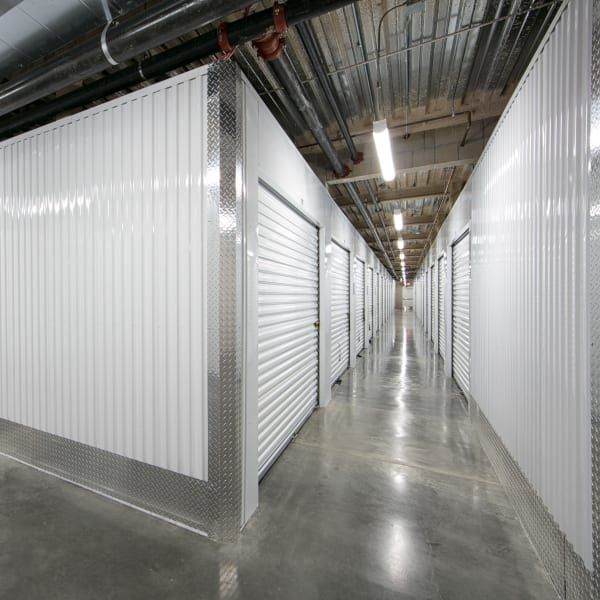 Indoor storage units at StorQuest Self Storage in Anaheim, California