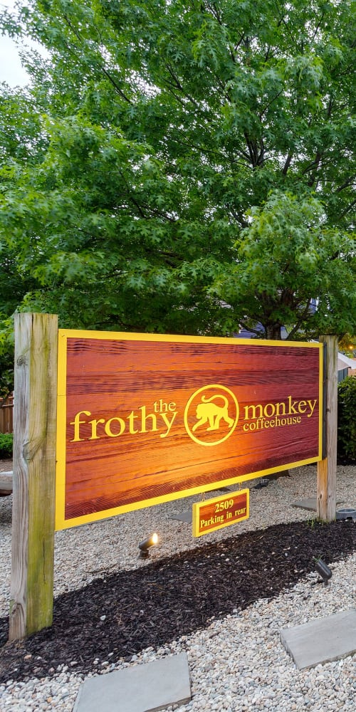 The Frothy Monkey coffee shop near 12 South Apartments in Nashville, Tennessee