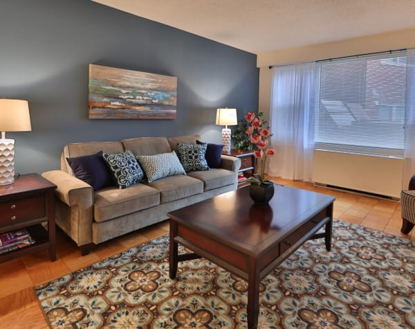 The Carlyle Apartments offers a living room in Baltimore, MD
