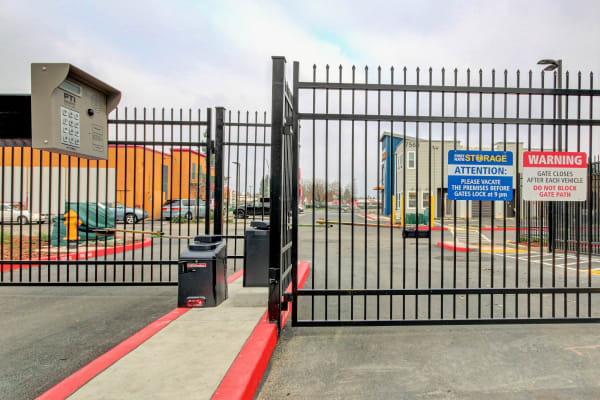Security at First Rate Storage in Stockton, California
