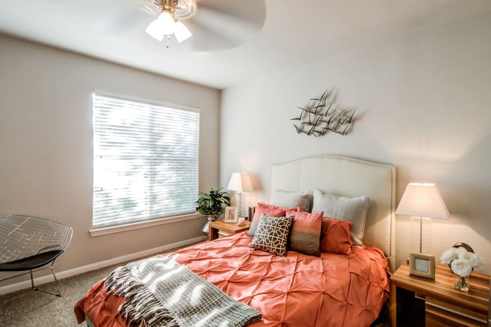 Bedroom at Meridian Apartments in San Antonio, Texas