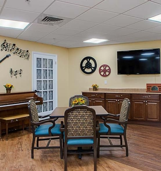 A view into the beauty and comfort our senior living community provides here at Grand Villa of Lakeland in Florida