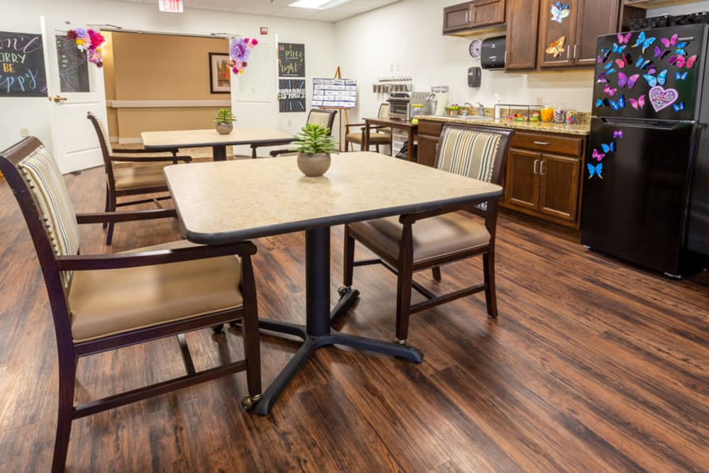 Activity room at The Harmony Collection at Roanoke - Assisted Living in Roanoke, Virginia