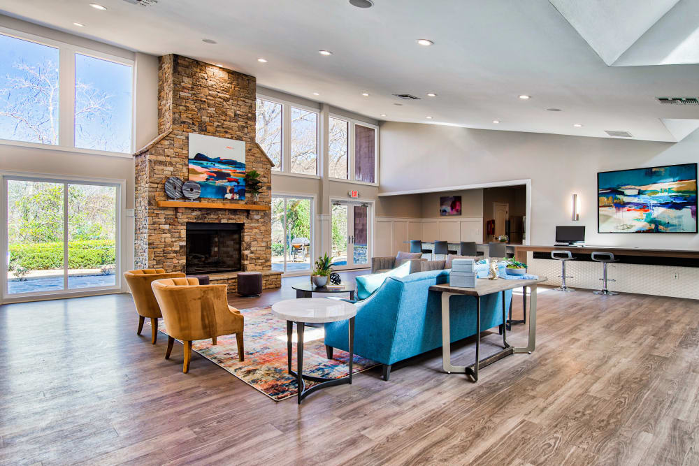 Enjoy Apartments with a Clubhouse at The Lodge on the Chattahoochee Apartments in Sandy Springs, Georgia