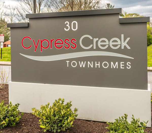 Sign to Cypress Creek Townhomes in Goodlettsville, Tennessee