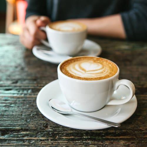 Cappuccinos at a cafe near Kestrel Park in Vancouver, Washington
