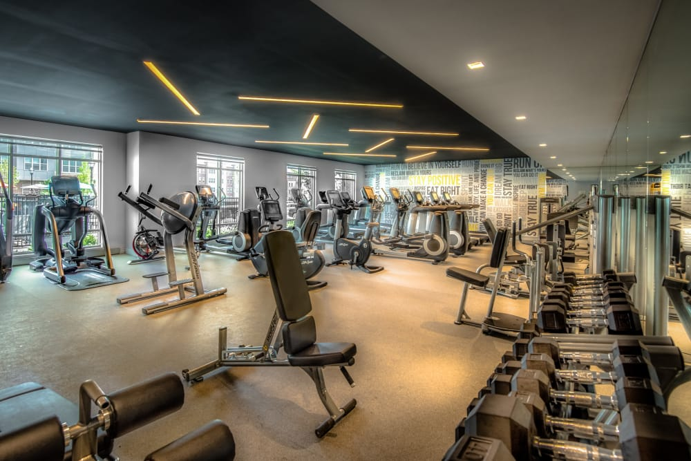 Luxury fitness center at The Chase at Overlook Ridge in Malden, Massachusetts