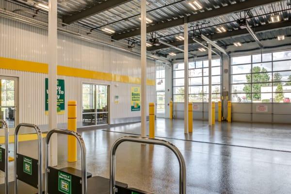 Interior loading bay at Metro Self Storage in Line Lexington, Pennsylvania