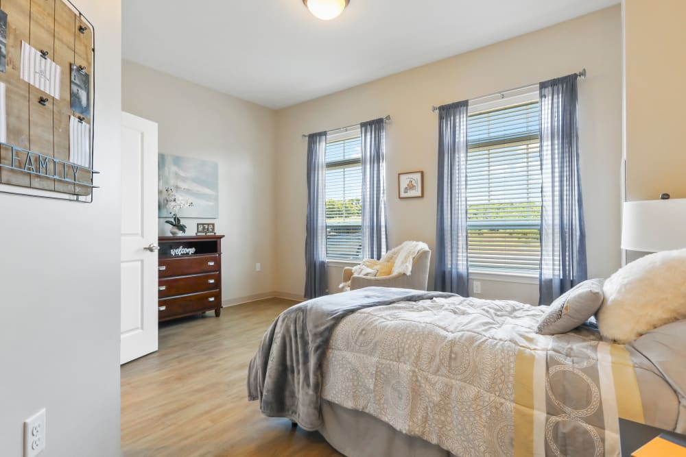 Apartment bedroom at Harmony at Martinsburg in Martinsburg, West Virginia