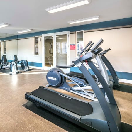 Well equipped work out area at Natomas Park Apartments in Sacramento, California