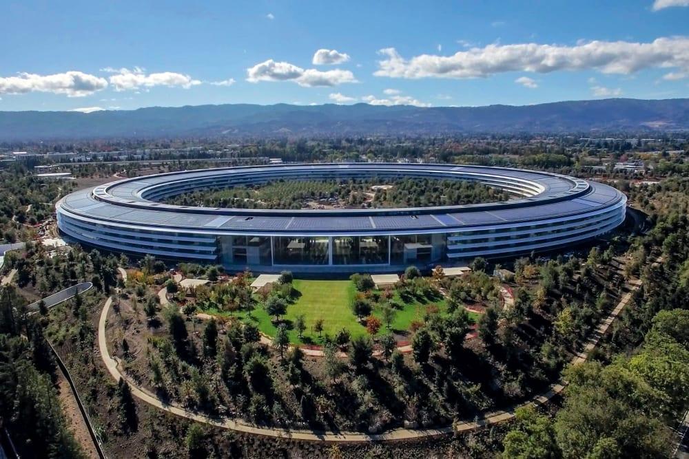 Apple Park near San Jose, California near Brookdale Apartments