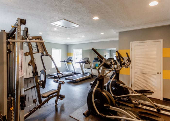 Fitness center at The Village at Crestview in Madison, Tennessee