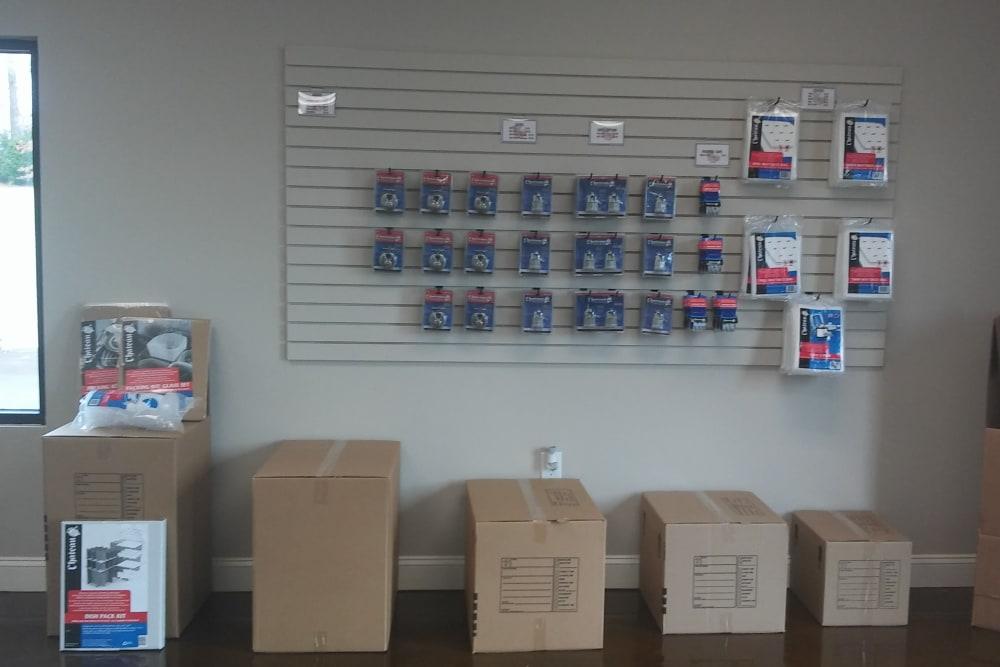 Packing supplies at Oakland Self Storage in Madison, Alabama