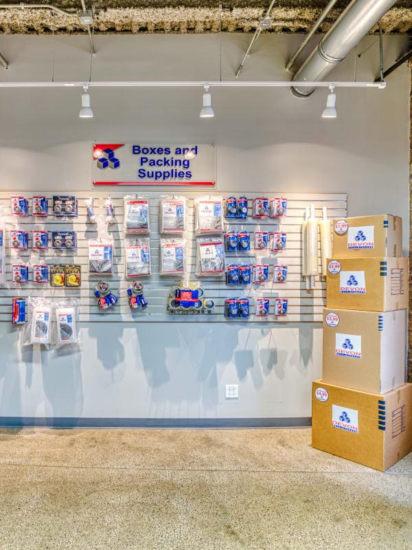 Packing supplies at Devon Self Storage in Charleston, South Carolina
